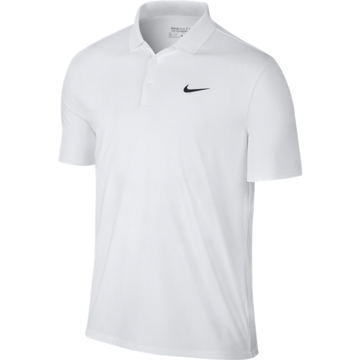 d889c42e Nike Golf Victory Solid LC Polo – White/Black – Golf 247 – The UK's ...