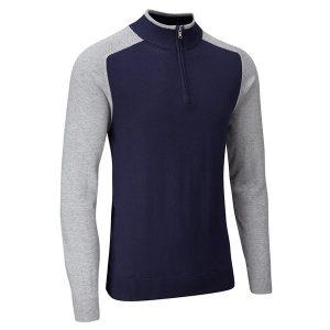 sbknt1000_casual_half_zip_lined_sweater_midnightgreymarl